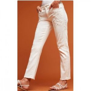 Pilcro Hyphen Embroidered Jeans
